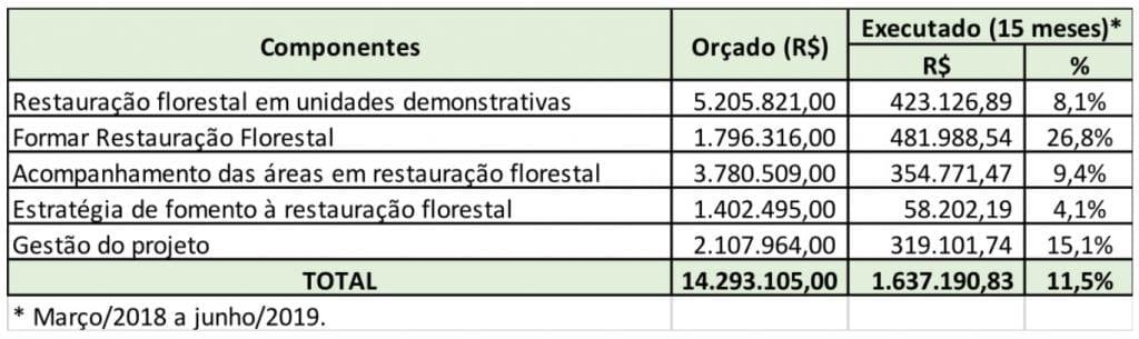 FlorestaParaSempre execfinanceira 1024x305 - Projeto Floresta para Sempre