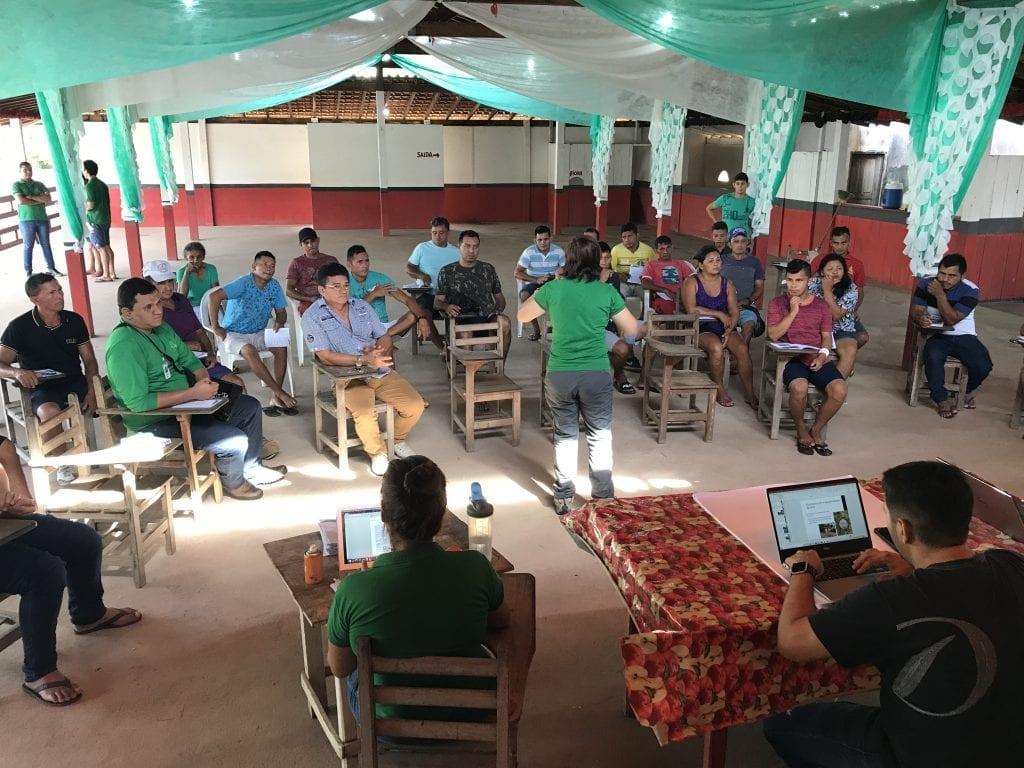 IMG 1677 1024x768 - Imazon e prefeitura de Juruti realizam reuniões com a população sobre o Projeto de criação de  Unidade de Conservação no município