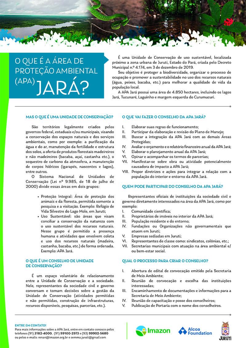 APA Jara conselho 1 - Convocação de instituições para a reunião de formação do Conselho Gestor da Área de Proteção Ambiental Jará