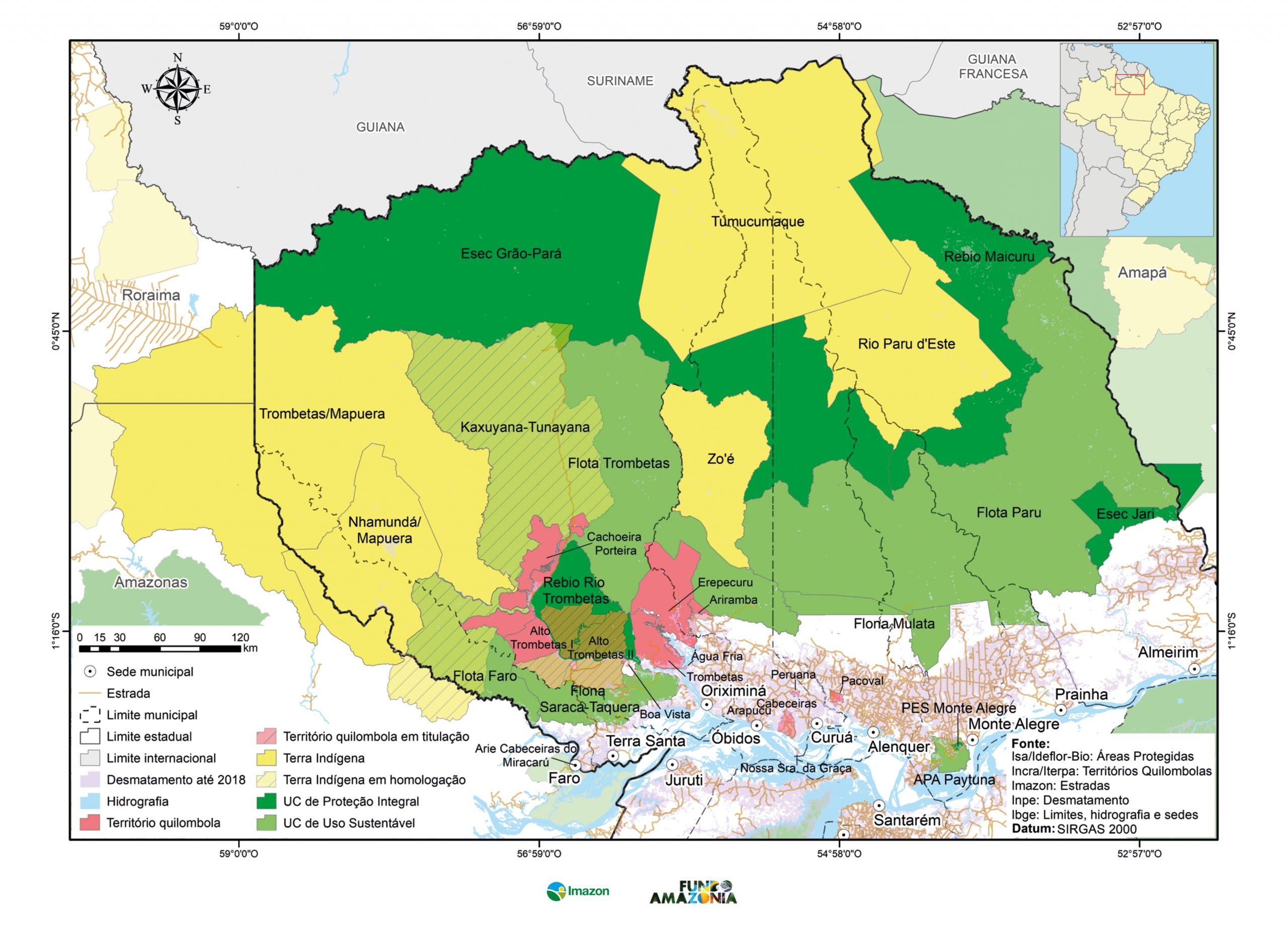 EncarteMAPA CalhaNorte 2020 18mar2020 FINAL page 0001 scaled - Mapa das Áreas Protegidas do Norte do Pará