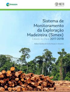 simex capa 229x300 - Sistema de Monitoramento da Exploração Madeireira (Simex): Estado do Pará 2017-2018
