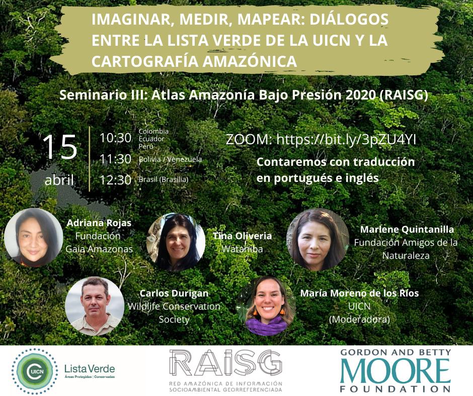 Panel Seminario III RAISG 1 - Organizações promovem evento internacional para lançar versão digital de atlas sobre a Amazônia