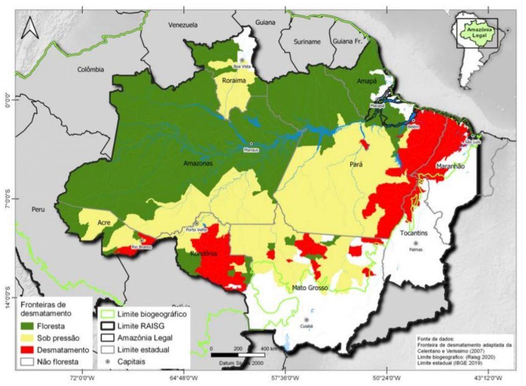 """fronteira de desmatamento 1024x751 - Publicação """"Fatos da Amazônia 2021"""" mostra radiografia atual da região: veja os principais dados"""