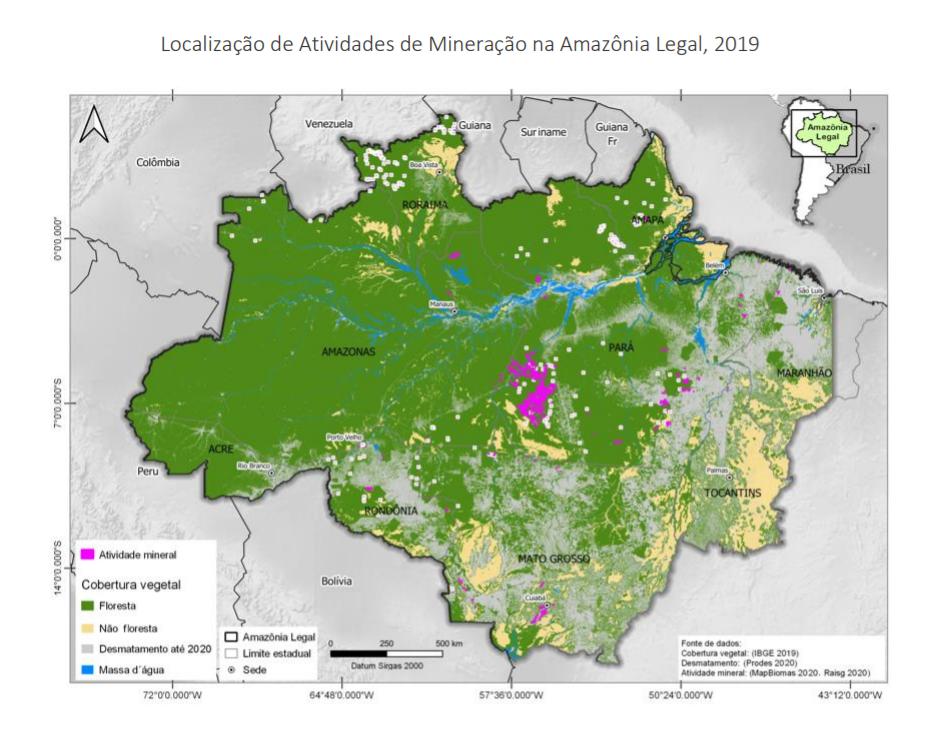 """mineracaoamz - Publicação """"Fatos da Amazônia 2021"""" mostra radiografia atual da região: veja os principais dados"""