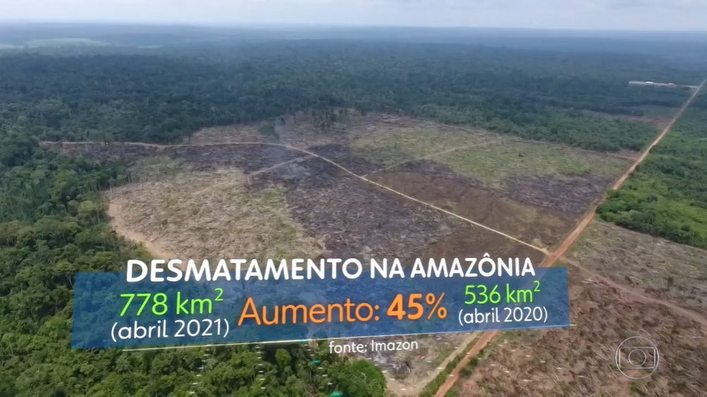 JN SAD abril21 - #ImazonNaMídia: Maior desmatamento em abril dos últimos 10 anos estampa manchetes de veículos regionais e nacionais
