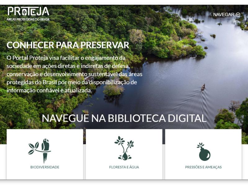 site 1 - Instituições ambientais lançam o Portal Proteja, biblioteca virtual sobre áreas protegidas do Brasil